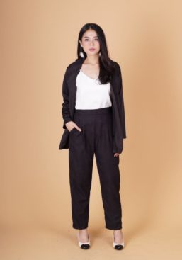pocket blazer black1