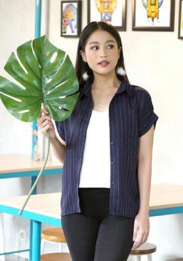 linen stripes shirt navy (2)