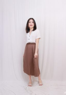 Raelle pleated skirt